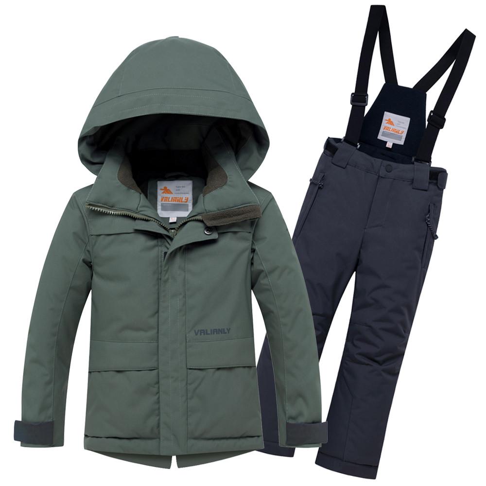 Купить Горнолыжный костюм для мальчика цвета хаки 8921Kh