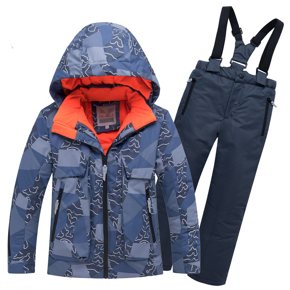 Купить Горнолыжный костюм подростковый для мальчика синий 8923S