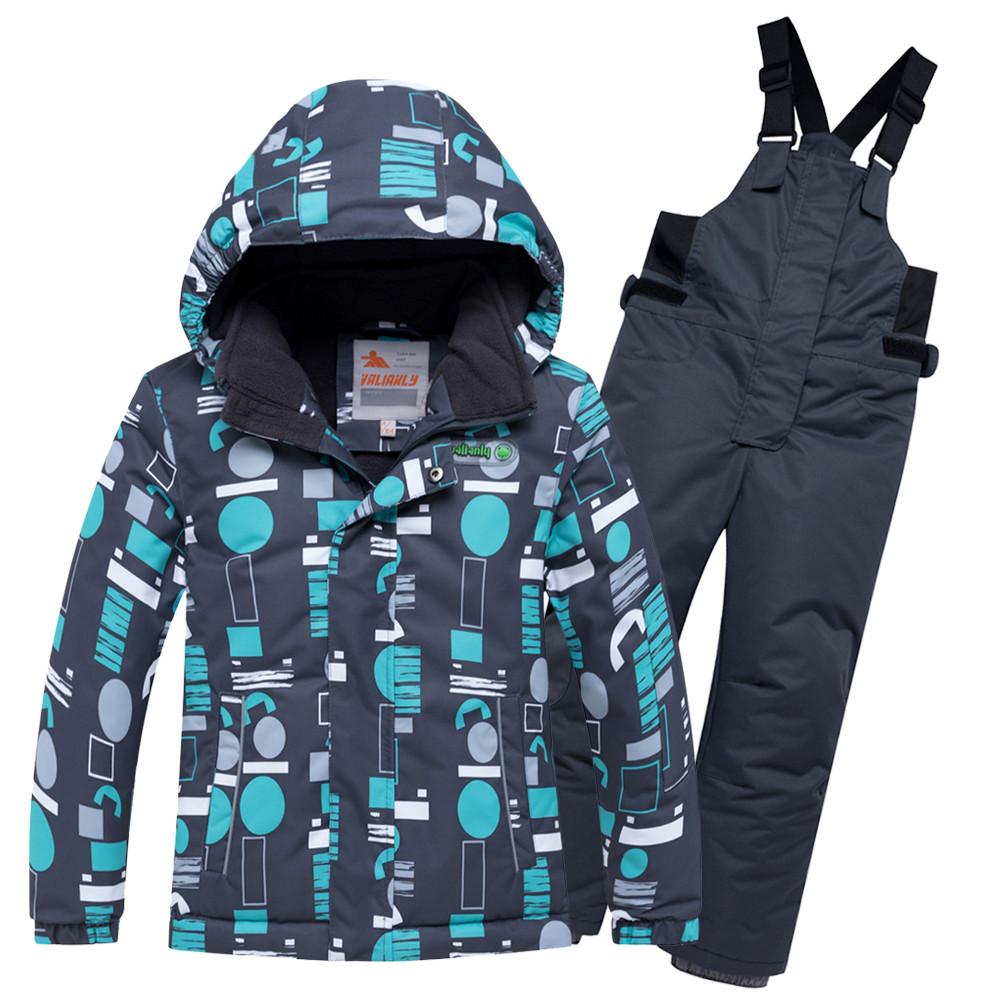 Купить Горнолыжный костюм для мальчика синего цвета 8925S