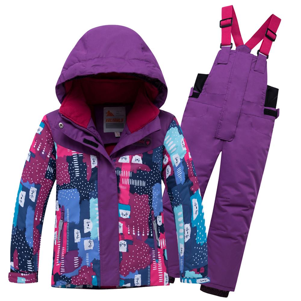Купить Горнолыжный костюм для ребенка фиолетового цвета 8926F