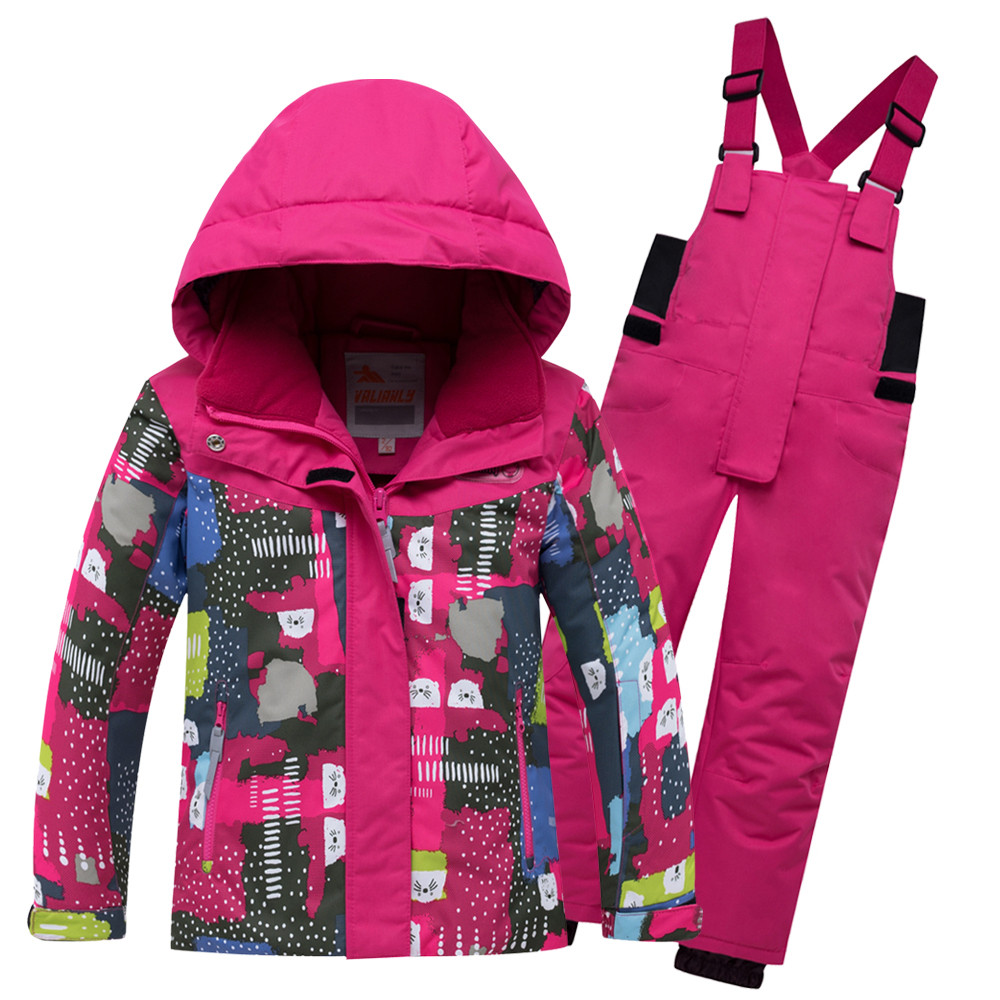 Купить Горнолыжный костюм для ребенка розового цвета 8926R