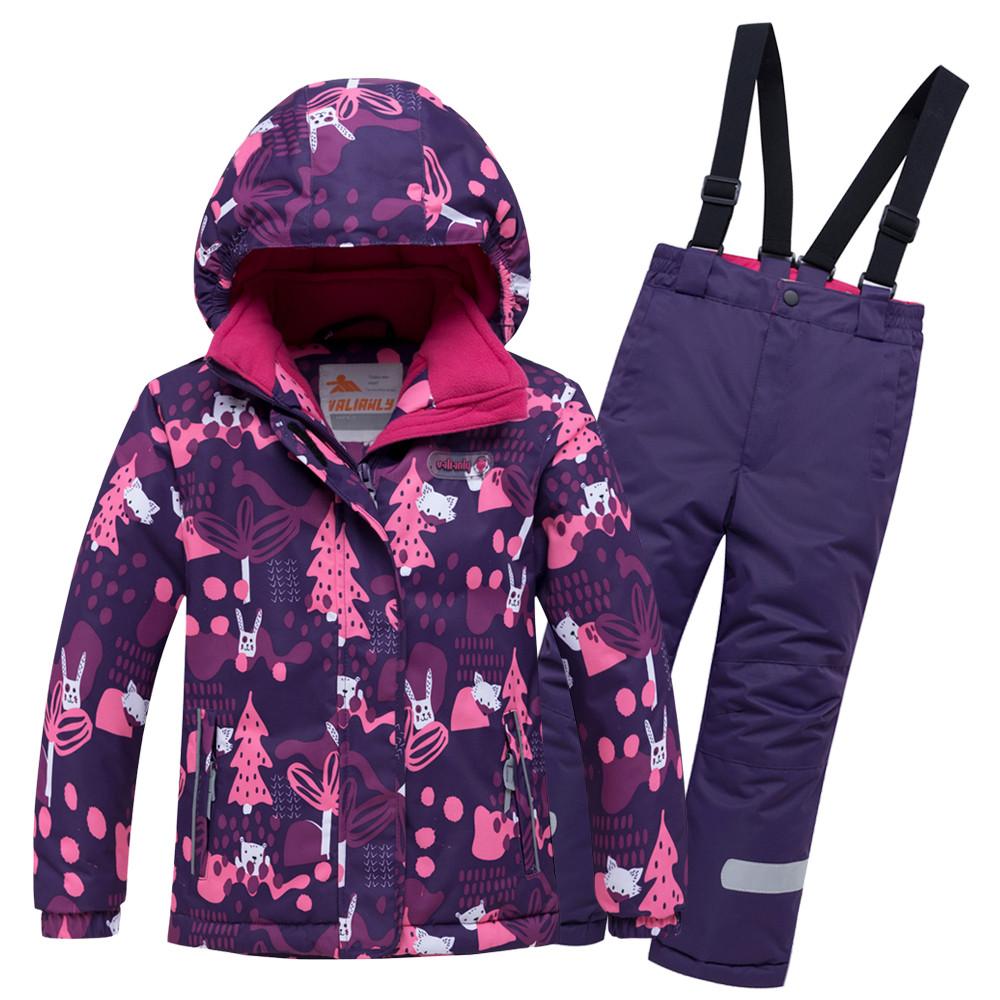 Купить Горнолыжный костюм для ребенка фиолетового цвета 8928F