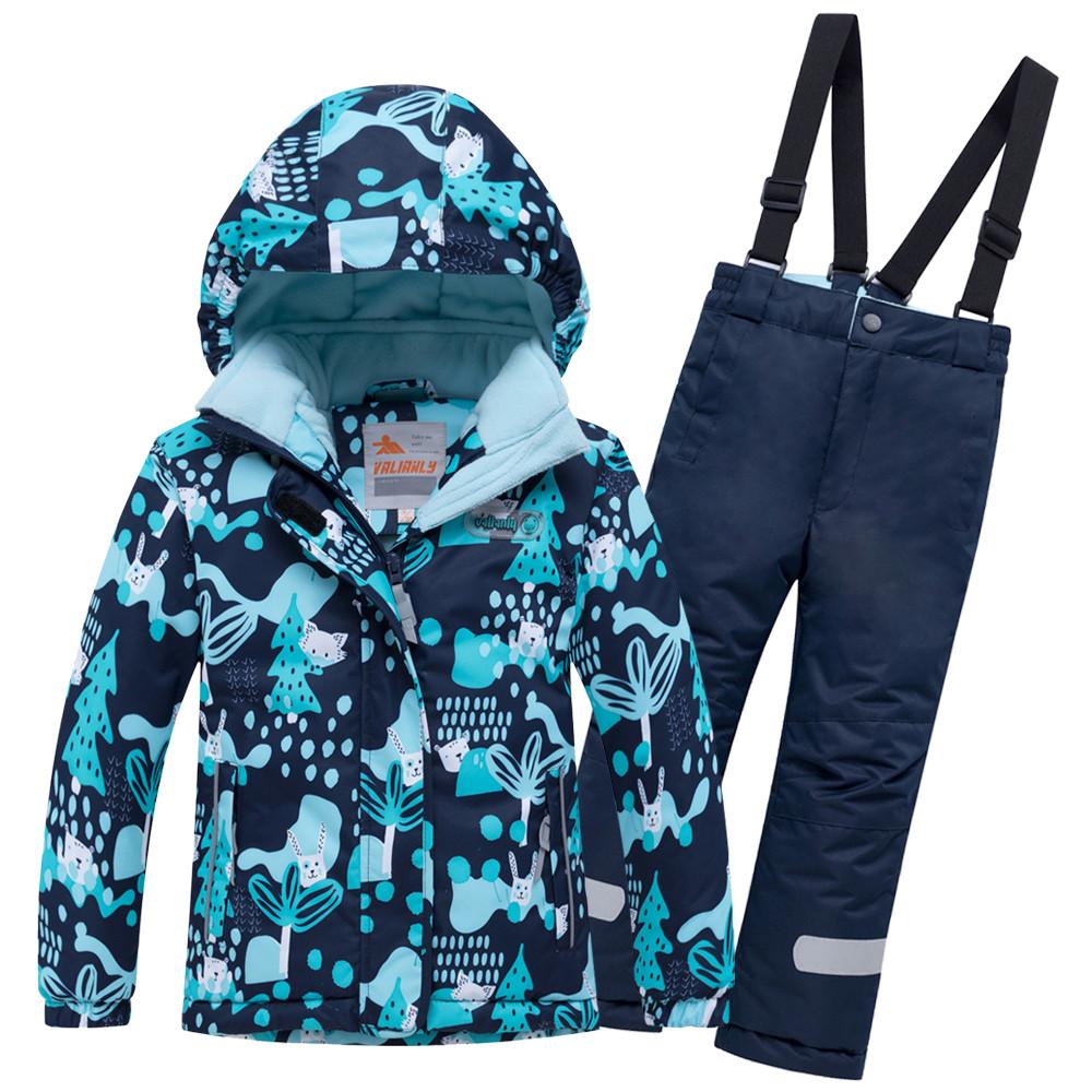 Купить Горнолыжный костюм для ребенка синего цвета 8928S