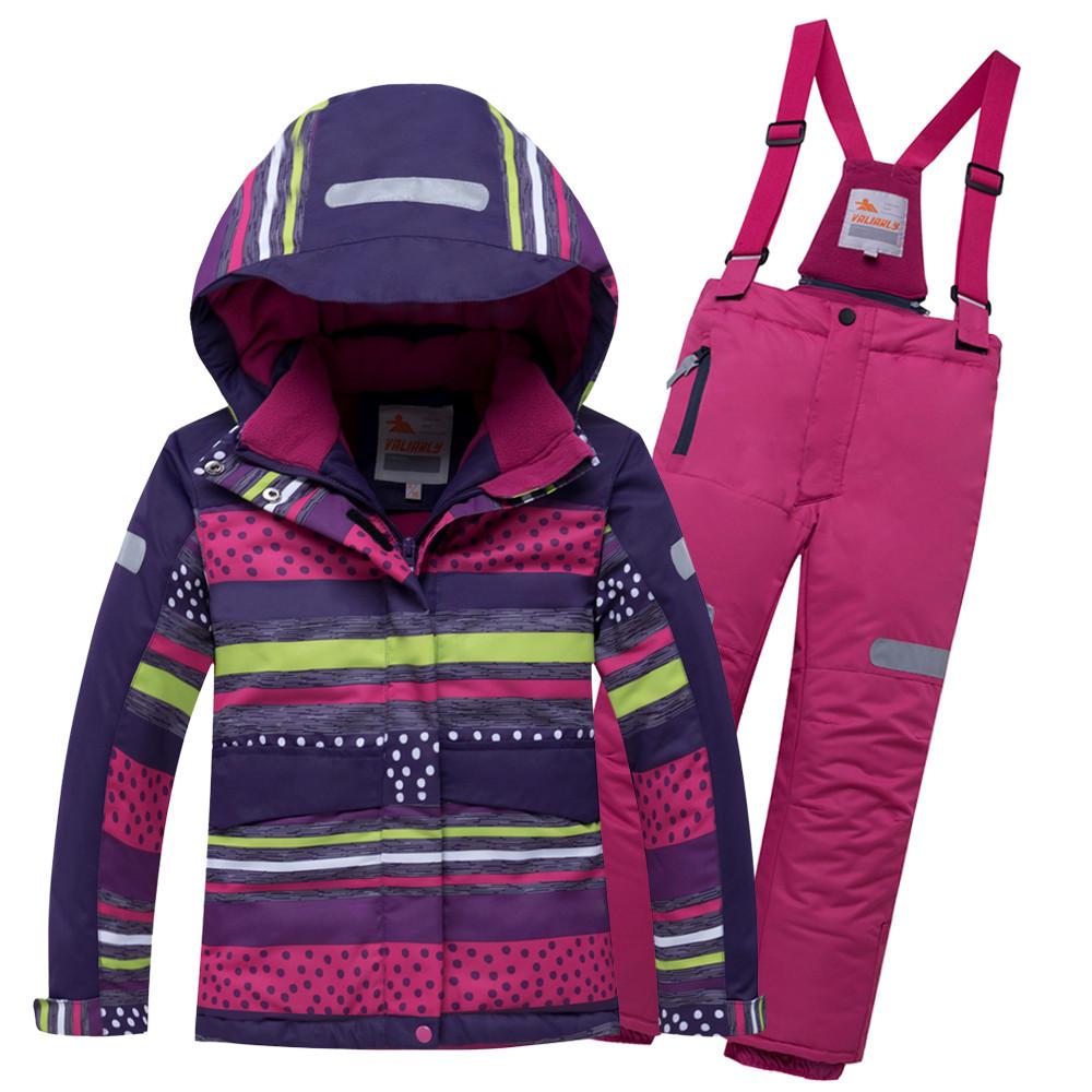Купить Горнолыжный костюм подростковый для девочки темно-фиолетового 8930TF