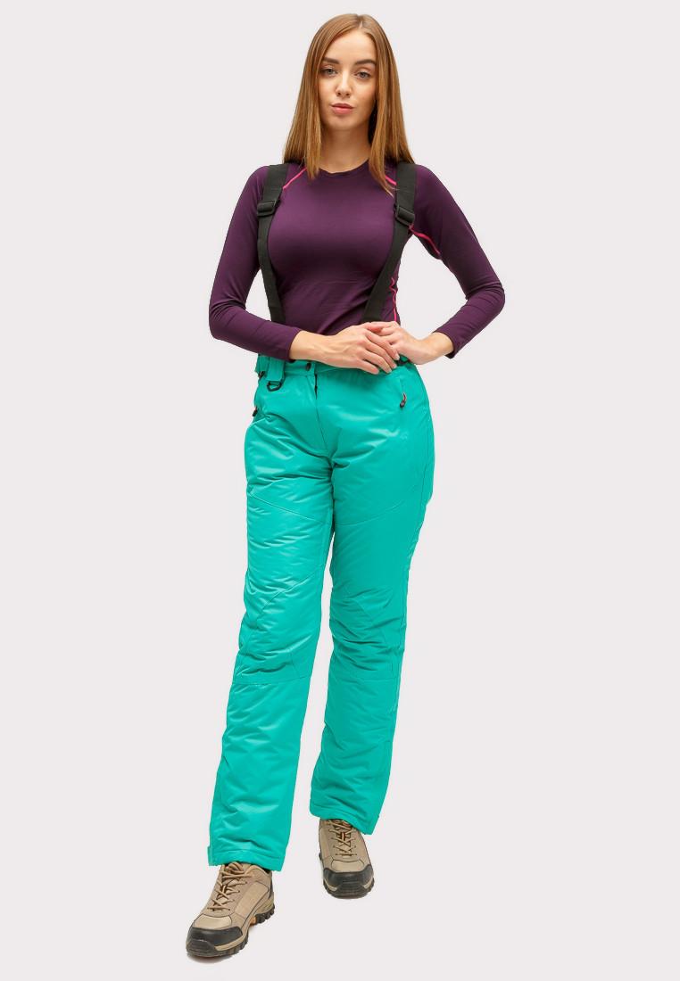 Купить Брюки горнолыжные женские зеленого цвета 905-1Z
