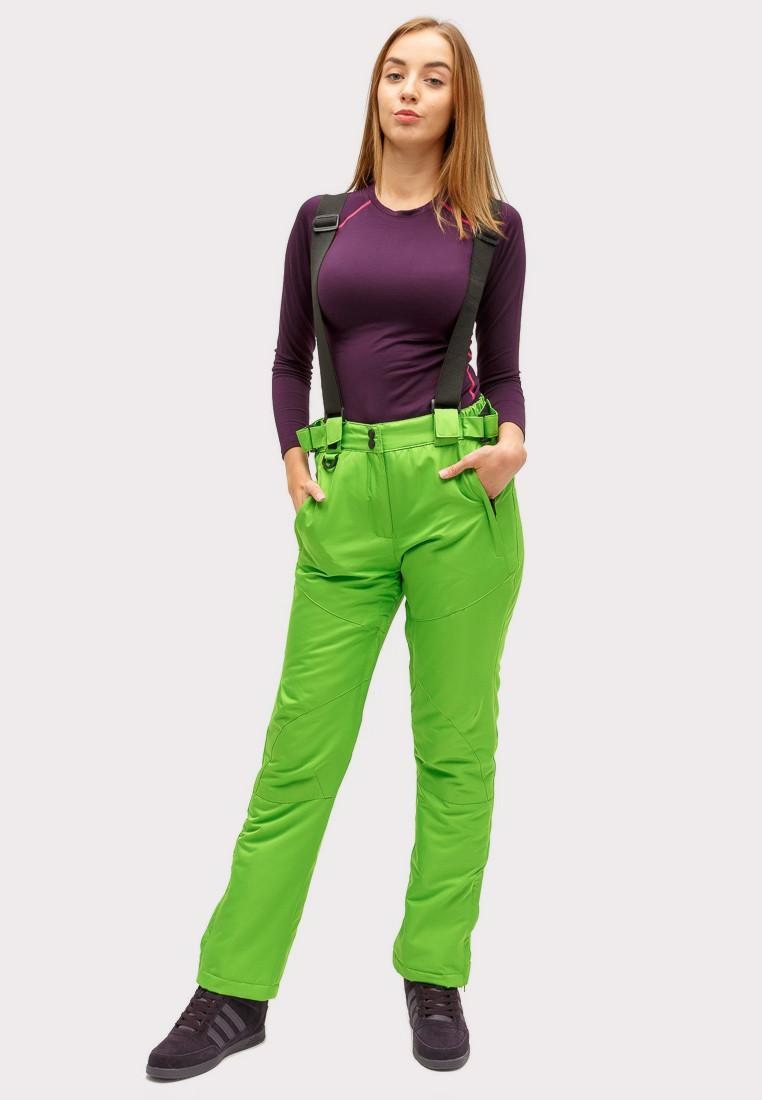 Купить Брюки горнолыжные женские салатового цвета 905Sl