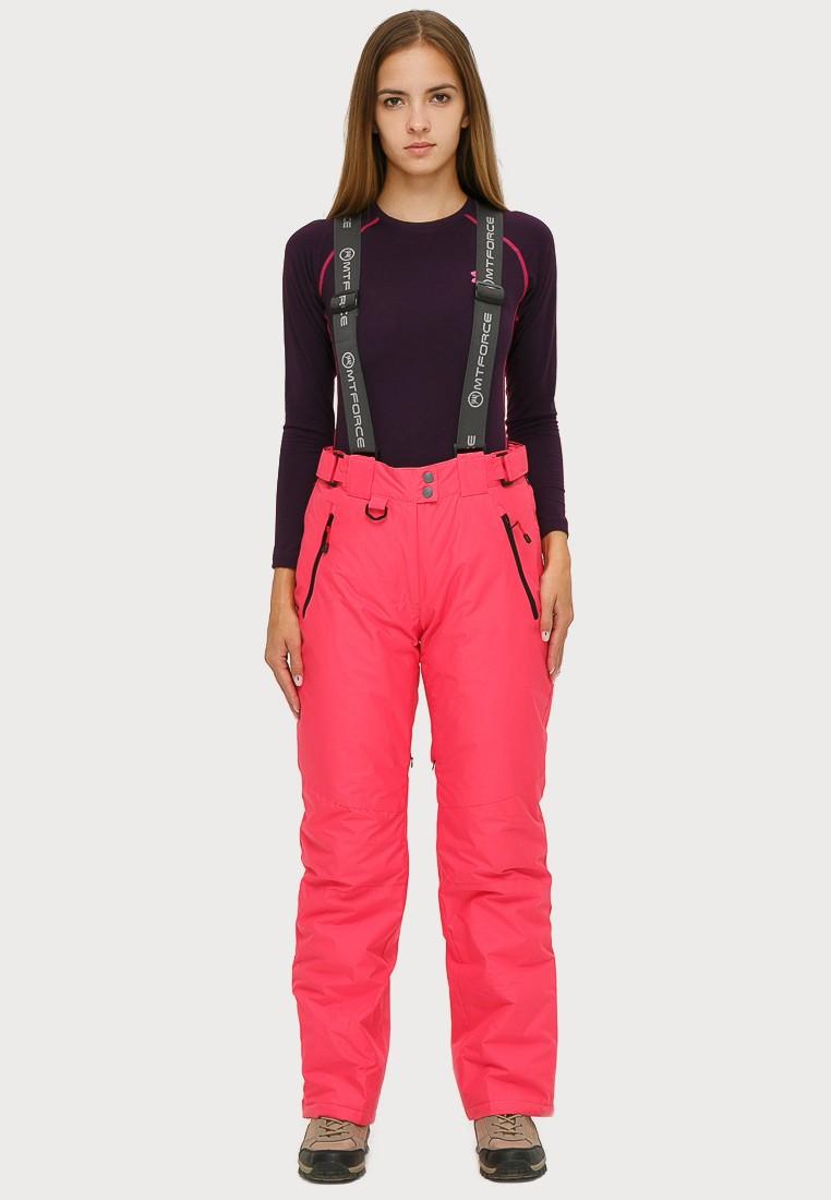 Купить Брюки горнолыжные женские розового цвета 906R