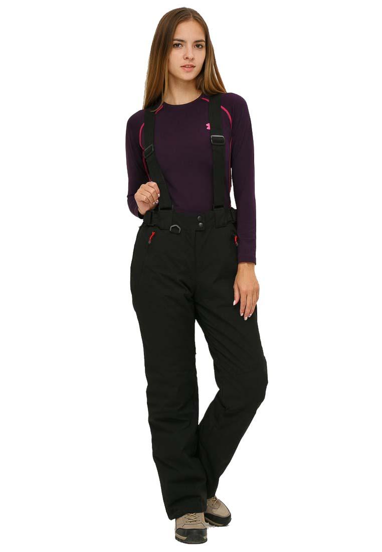 Купить Брюки горнолыжные женские черного цвета 906Ch
