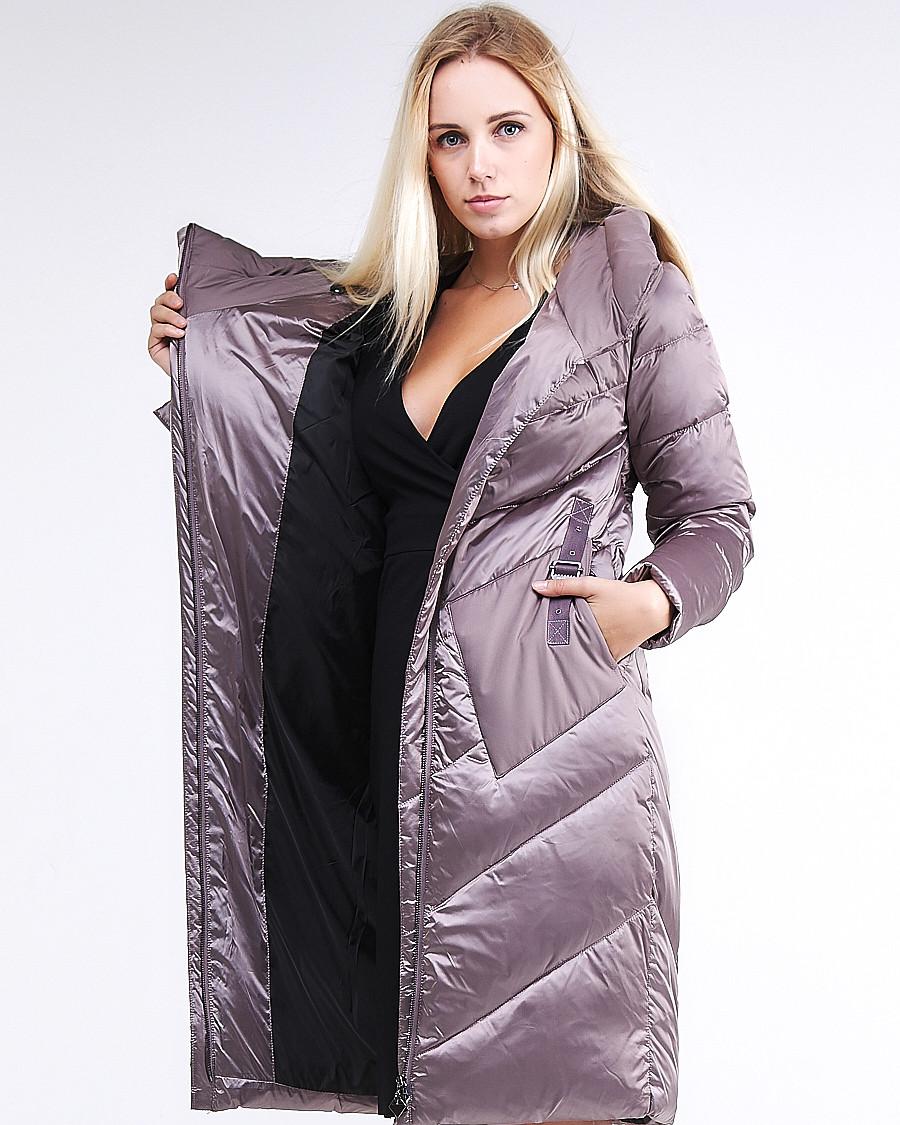 Купить Куртка зимняя женская классическая бежевого цвета 9102_12B