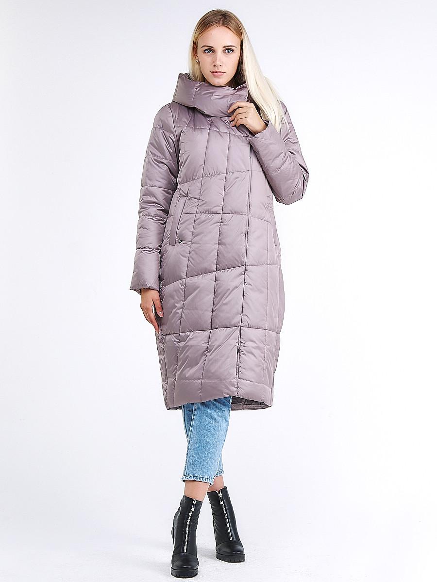 Купить Куртка зимняя женская молодежная стеганная бежевого цвета 9163_12B