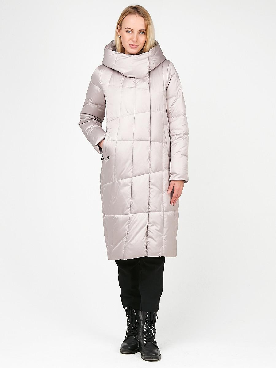 Купить Куртка зимняя женская молодежная стеганная бежевого цвета 9163_28B