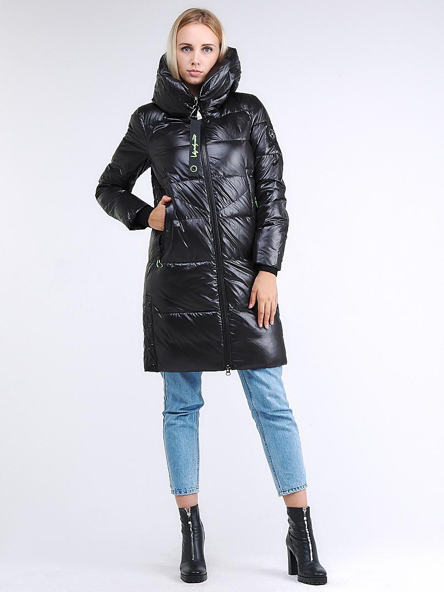 Купить Куртка зимняя женская молодежная черного цвета 9179_01Ch