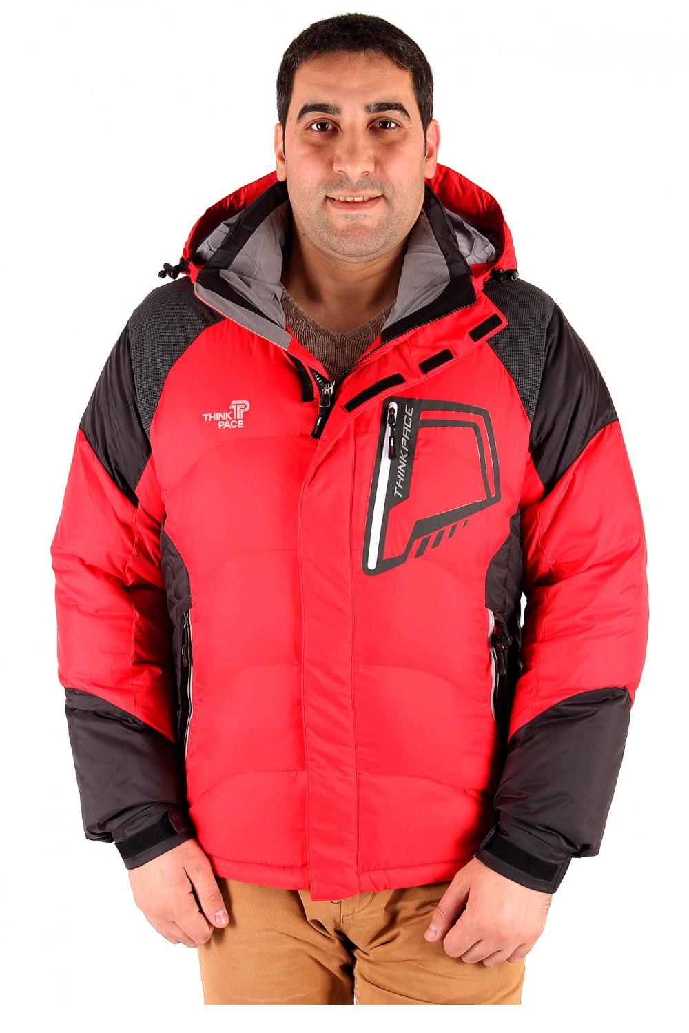 Купить Куртка зимняя мужская красного цвета 9406Kr