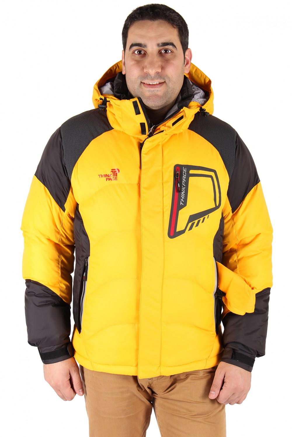 Купить Куртка зимняя мужская желтого цвета 9406J