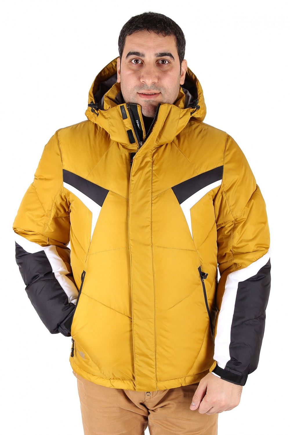 Купить Куртка зимняя мужская горчичного цвета 9440G