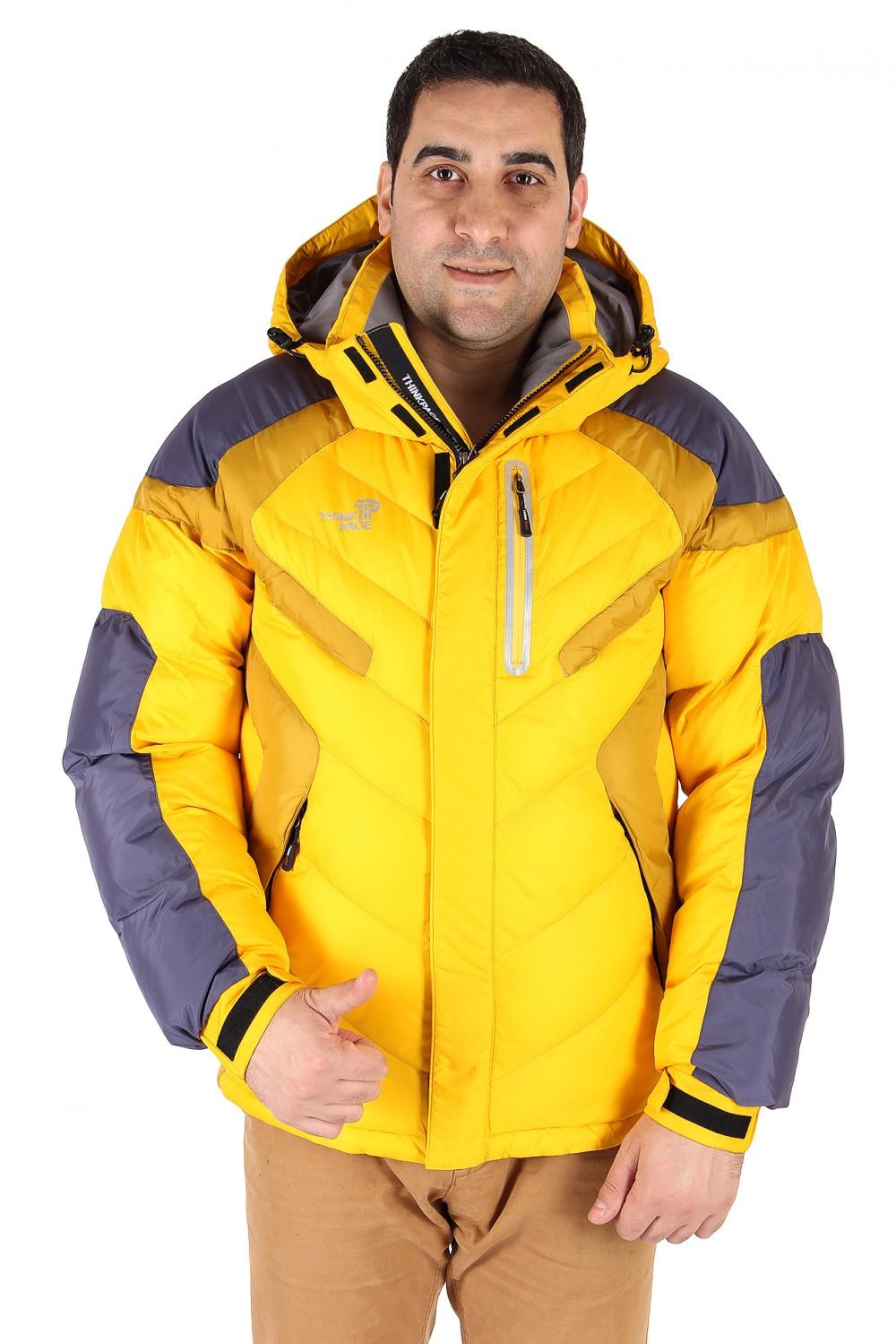 Купить Куртка зимняя мужская желтого цвета 9453J