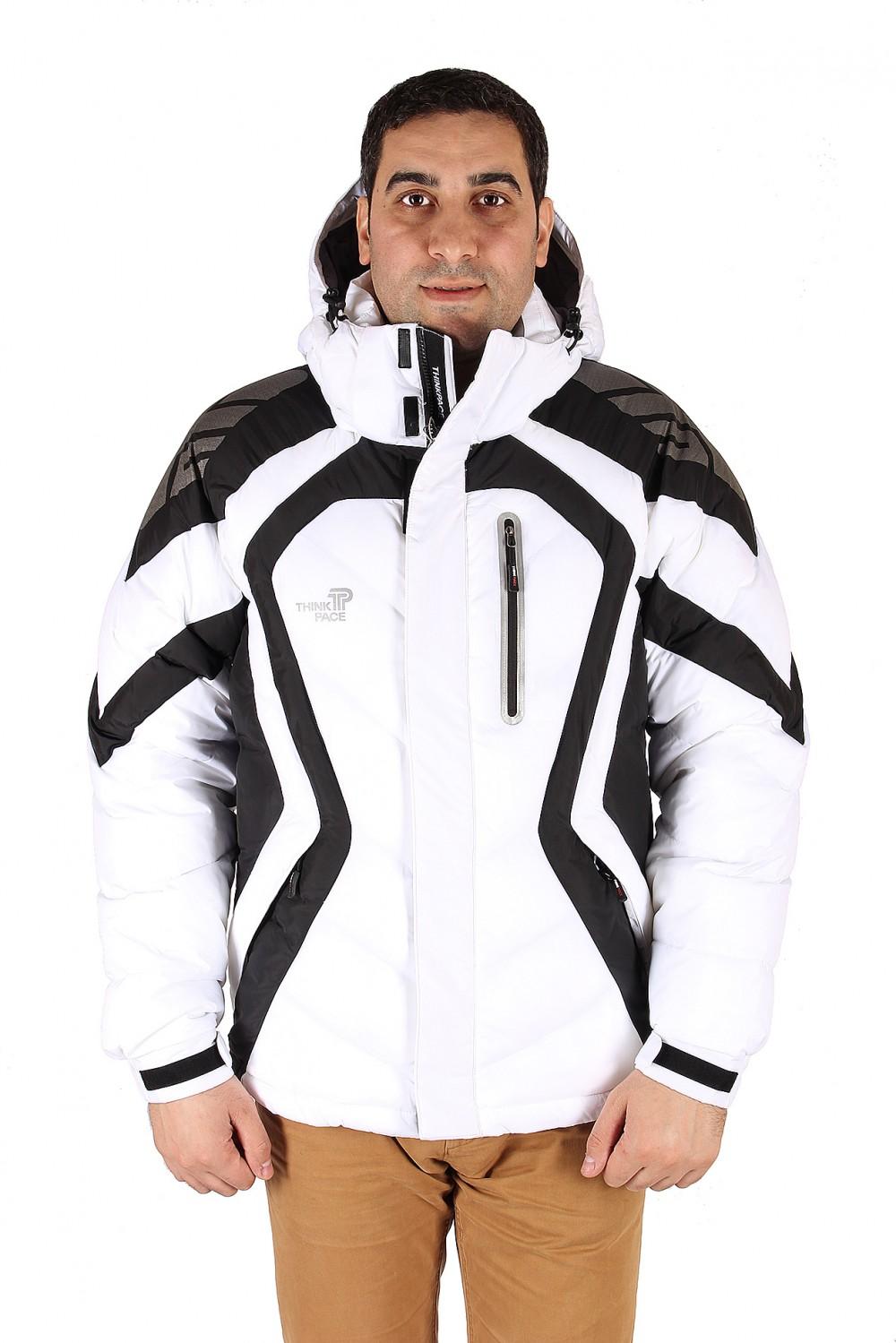 Купить Куртка зимняя мужская белого цвета 9455Bl