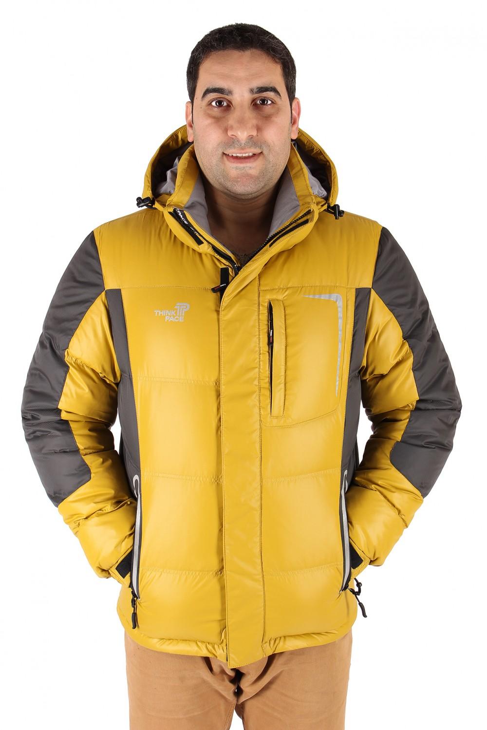 Купить Куртка пуховик мужская горчичного цвета 9573G