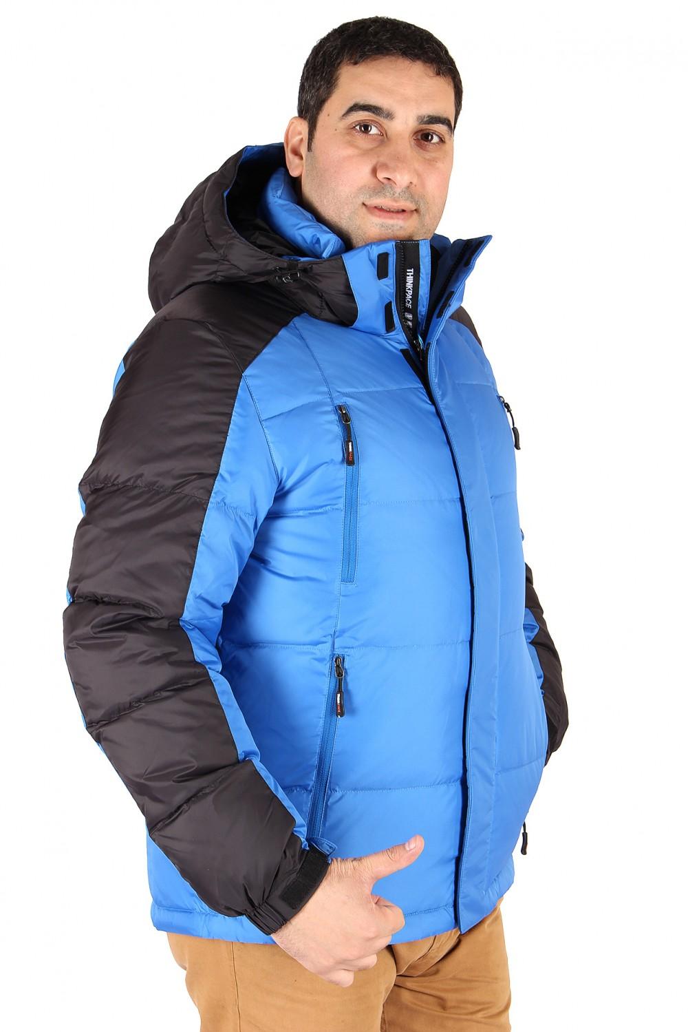 Купить Куртка пуховик мужская синего цвета 9872S