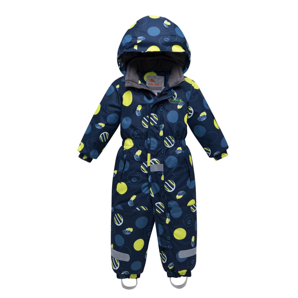 Купить Комбинезон для мальчика зимний желтого цвета 8905J