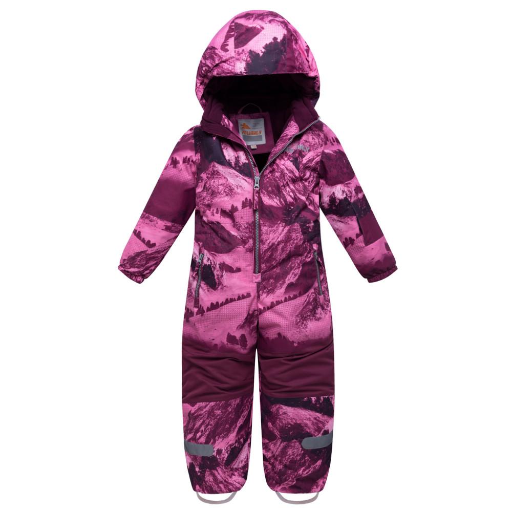 Купить Комбинезон для девочки зимний малинового цвета 8908М