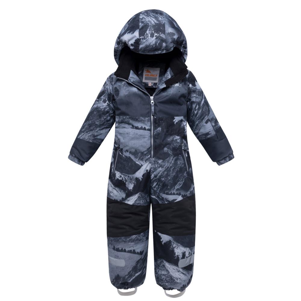 Купить Комбинезон для мальчика зимний серого цвета 8907Sr