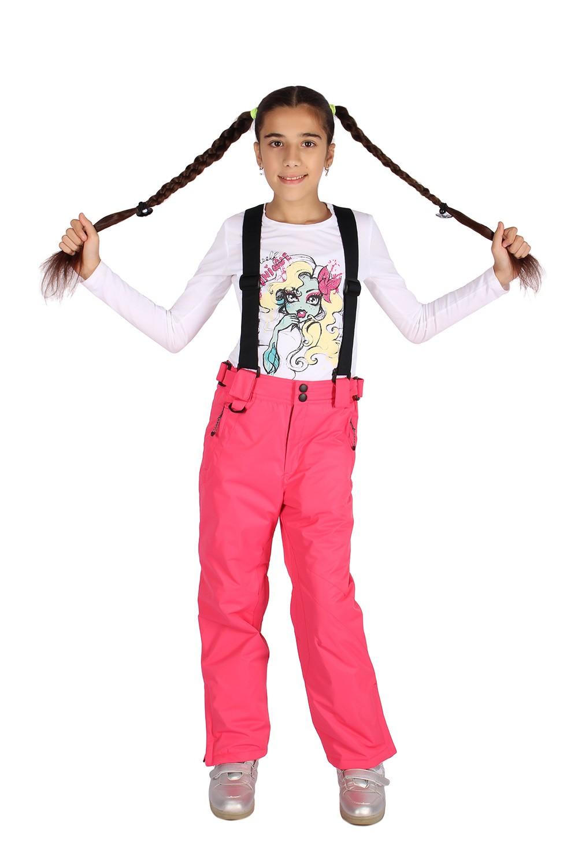 Купить Брюки горнолыжные подростковые для девочки розового цвета 816R