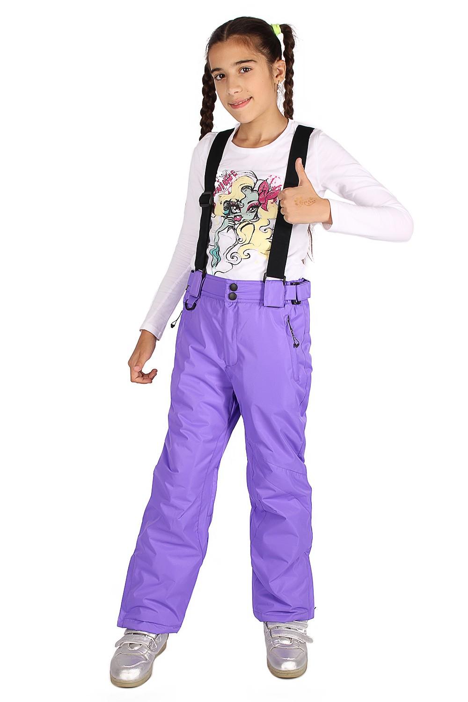 Купить Брюки горнолыжные подростковые для девочки фиолетового цвета 816F