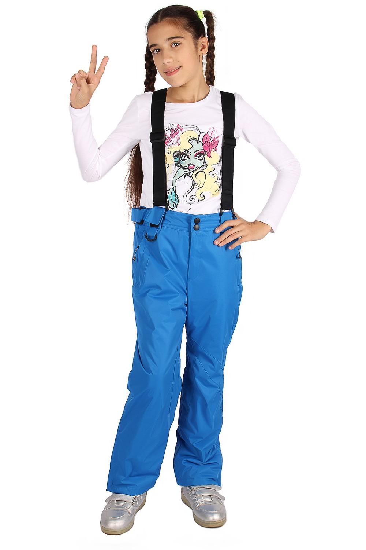 Купить Брюки горнолыжные подростковые для девочки синего цвета 816S